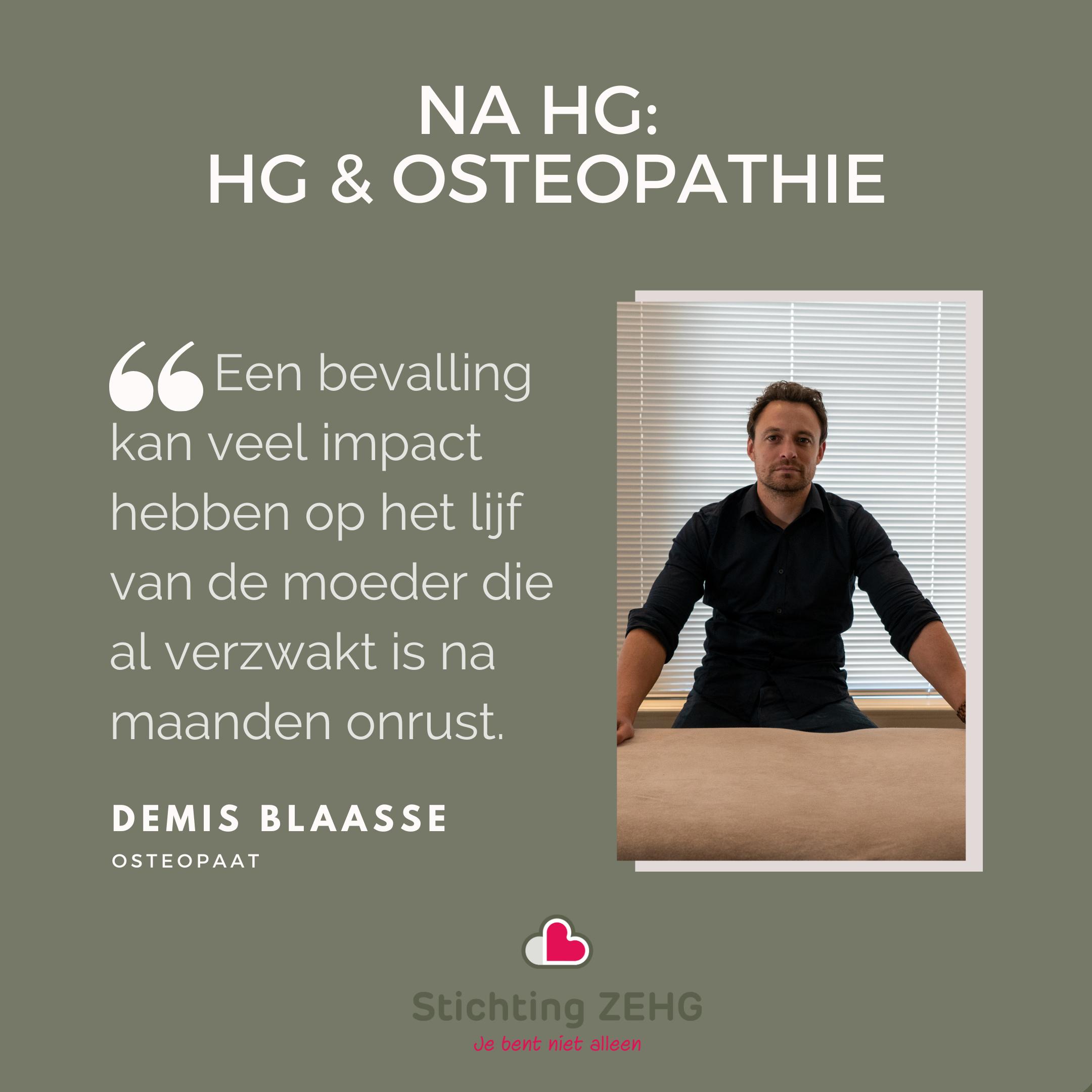 Herstel Na HG II: HG & Osteopathie